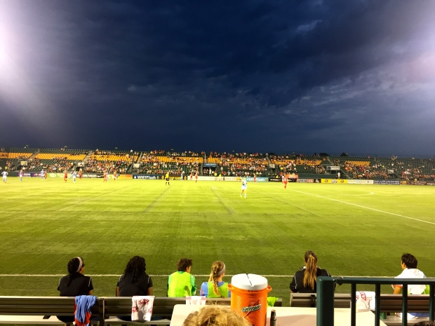 Sahlen's stadium was gorgeous at night with perfect weather!